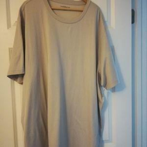 Men's 4X, Croft & Barrow East Care shirt, grey/tan